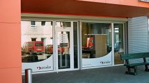 Arcelor biuro vitrina
