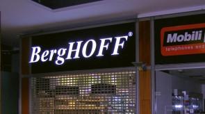 BergHOFF šviečianti iškaba Ermitaže