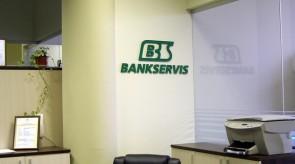 Bankservis 3D (tūrinė) iškaba biure