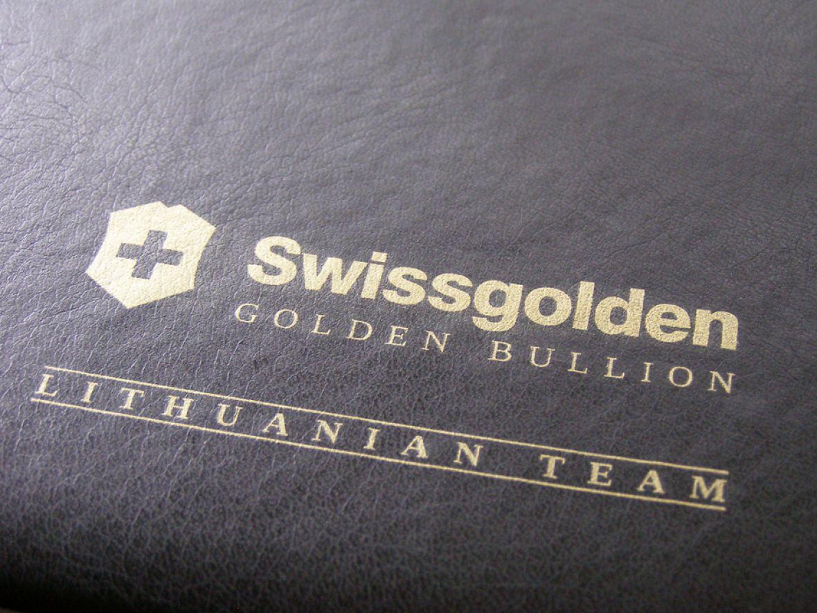 Šilkografinis logotipas ant kalendoriaus viršelio
