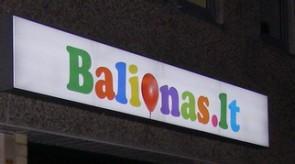 Šviečianti iškaba balionas.lt