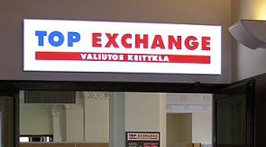 Top Exchange šviečianti iškaba