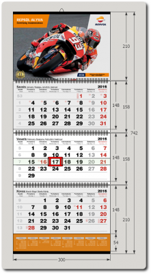 3-jų dalių kalendorius